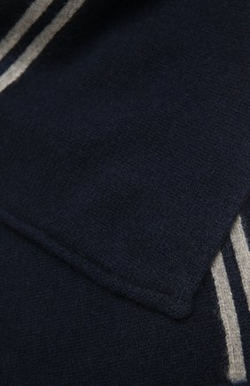 Детский кашемировый шарф OSCAR ET VALENTINE синего цвета, арт. ECH15A | Фото 2