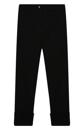 Детские брюки DESIGNERS CAT черного цвета, арт. 100000K01000634/14A | Фото 1 (Материал внешний: Синтетический материал, Вискоза; Девочки Кросс-КТ: Брюки-одежда; Ростовка одежда: 13 - 15 лет | 158 см)