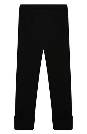Детские брюки DESIGNERS CAT черного цвета, арт. 100000K01000634/14A | Фото 2 (Материал внешний: Синтетический материал, Вискоза; Девочки Кросс-КТ: Брюки-одежда; Ростовка одежда: 13 - 15 лет | 158 см)