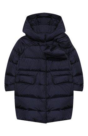 Детское пуховое пальто IL GUFO темно-синего цвета, арт. A20GP262N0031/2A-4A   Фото 1