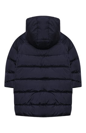 Детское пуховое пальто IL GUFO темно-синего цвета, арт. A20GP262N0031/2A-4A   Фото 2