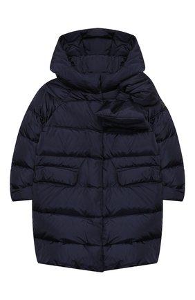 Детское пуховое пальто IL GUFO темно-синего цвета, арт. A20GP262N0031/5A-8A | Фото 1