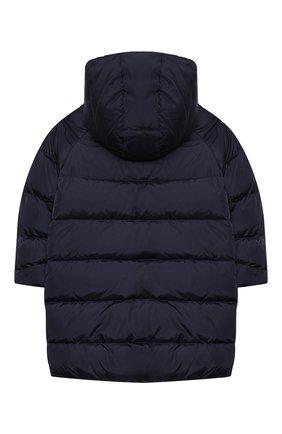 Детское пуховое пальто IL GUFO темно-синего цвета, арт. A20GP262N0031/5A-8A | Фото 2