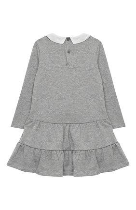 Детское платье IL GUFO серебряного цвета, арт. A20VL401M0087/5A-8A | Фото 2