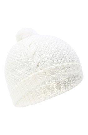 Детского шерстяная шапка BABY T белого цвета, арт. 20AI034CU | Фото 1