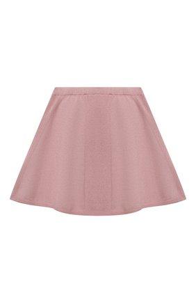 Детская кашемировая юбка OSCAR ET VALENTINE розового цвета, арт. SKR01 | Фото 2