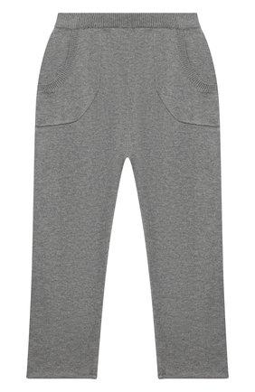Детские кашемировые брюки OSCAR ET VALENTINE серого цвета, арт. PAN01M | Фото 1
