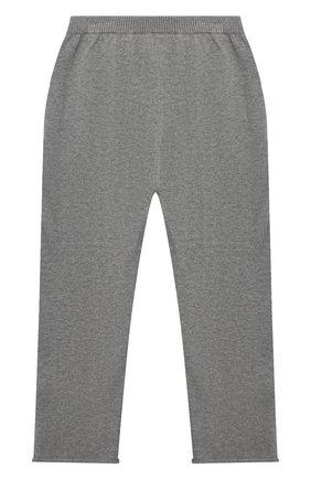 Детские кашемировые брюки OSCAR ET VALENTINE серого цвета, арт. PAN01M | Фото 2