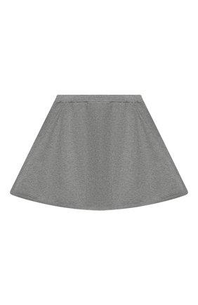 Детская кашемировая юбка OSCAR ET VALENTINE серого цвета, арт. SKR01 | Фото 2