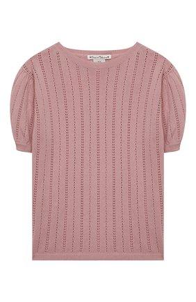 Детский кашемировый пуловер OSCAR ET VALENTINE розового цвета, арт. TOP15 | Фото 1
