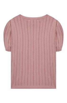 Детский кашемировый пуловер OSCAR ET VALENTINE розового цвета, арт. TOP15 | Фото 2