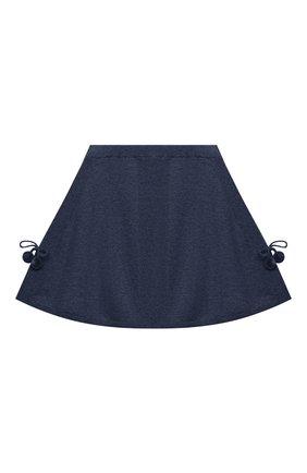 Детская кашемировая юбка OSCAR ET VALENTINE голубого цвета, арт. SKR01 | Фото 1