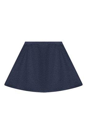 Детская кашемировая юбка OSCAR ET VALENTINE голубого цвета, арт. SKR01 | Фото 2