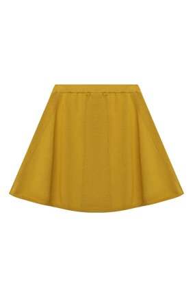 Детская кашемировая юбка OSCAR ET VALENTINE желтого цвета, арт. SKR01 | Фото 2