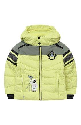 Детского куртка с капюшоном POIVRE BLANC светло-зеленого цвета, арт. 279657   Фото 1
