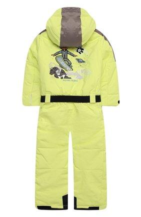 Детский комбинезон с капюшоном POIVRE BLANC светло-зеленого цвета, арт. 279659   Фото 2