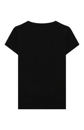 Детская хлопковая футболка VERSACE черного цвета, арт. YC000346/YA00019/4A-6A | Фото 2