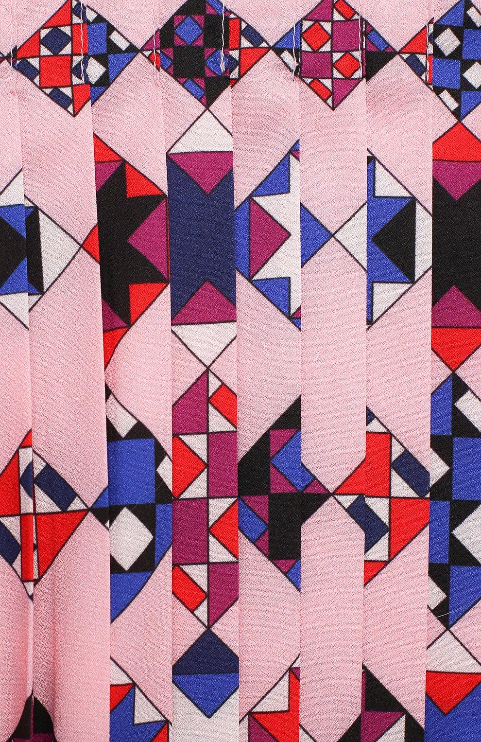 Детское платье EMILIO PUCCI розового цвета, арт. 9N1210/ND780/2-4   Фото 3 (Рукава: Длинные; Случай: Повседневный; Материал внешний: Синтетический материал; Материал подклада: Купро)
