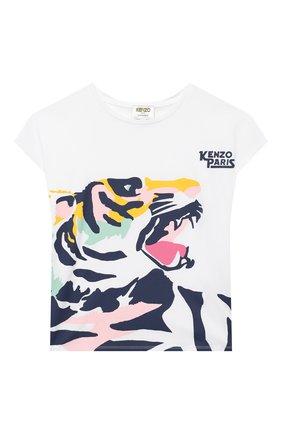 Детская хлопковая футболка KENZO разноцветного цвета, арт. KR10268 | Фото 1