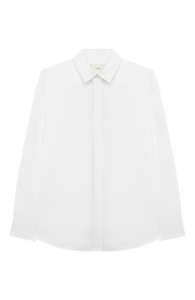 Детская хлопковая рубашка FENDI белого цвета, арт. JMC116/A31W/8A-12+   Фото 1