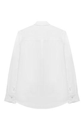 Детская хлопковая рубашка FENDI белого цвета, арт. JMC116/A31W/8A-12+   Фото 2