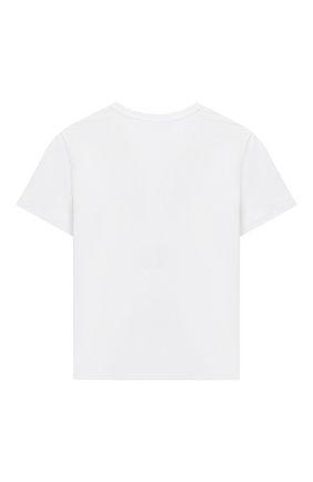 Детская хлопковая футболка MOSCHINO белого цвета, арт. H5M029/LBA12/10A-14A | Фото 2