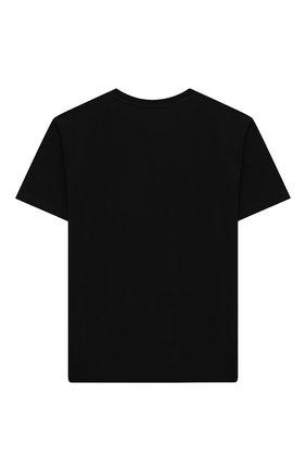 Детская хлопковая футболка MOSCHINO черного цвета, арт. H5M029/LBA12/10A-14A | Фото 2