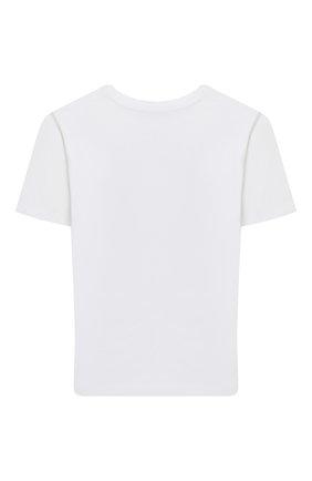 Детская хлопковая футболка MOSCHINO белого цвета, арт. HUM02X/LBA11/10A-14A | Фото 2