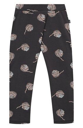 Детские хлопковые брюки SANETTA серого цвета, арт. 10165 | Фото 1
