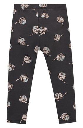 Детские хлопковые брюки SANETTA серого цвета, арт. 10165 | Фото 2