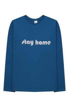 Детская хлопковая пижама SANETTA синего цвета, арт. 244804 | Фото 2