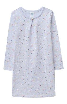Детская хлопковая сорочка SANETTA голубого цвета, арт. 232495 | Фото 1