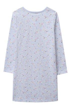 Детская хлопковая сорочка SANETTA голубого цвета, арт. 232495 | Фото 2