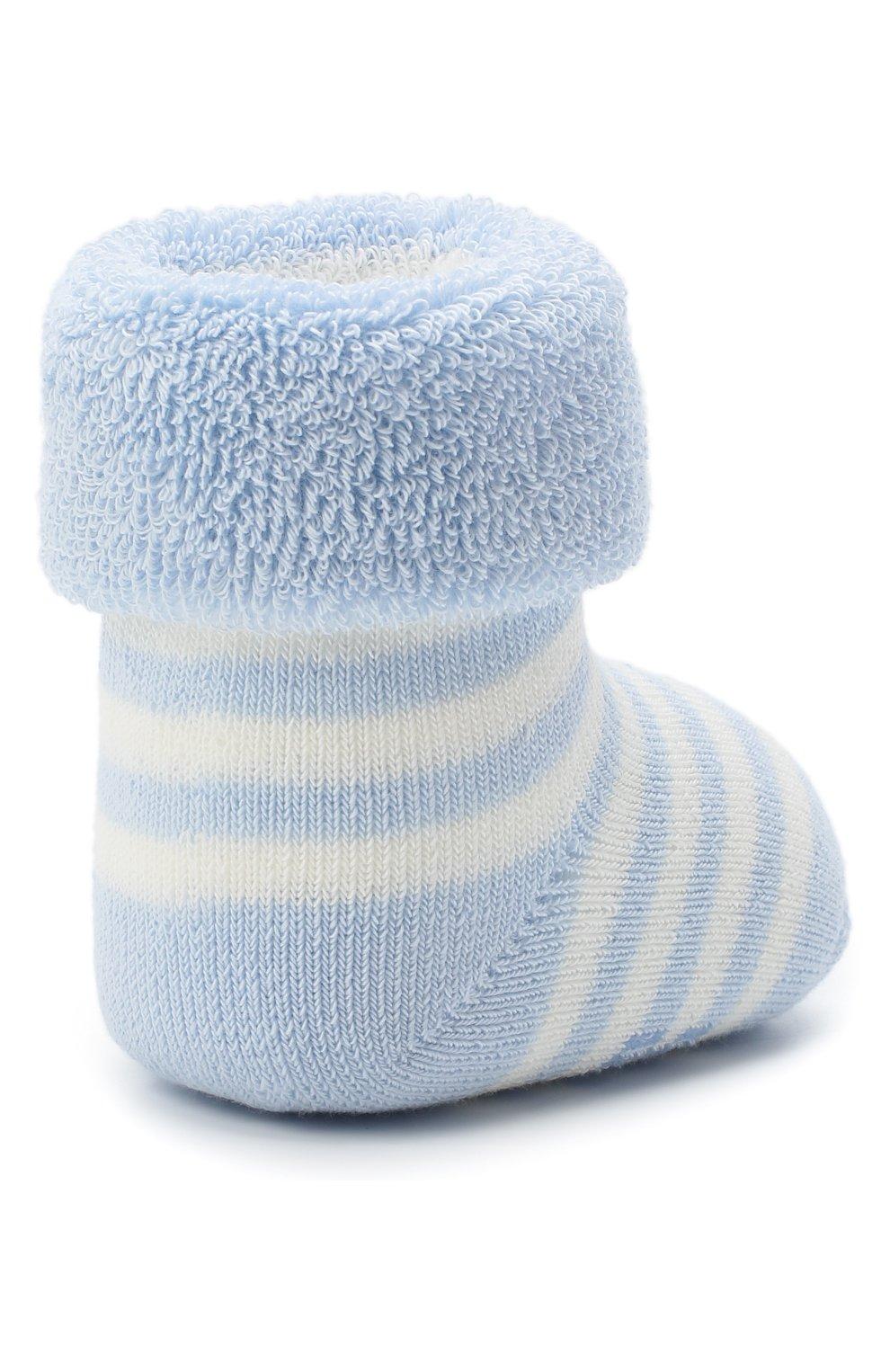 Детские хлопковые носки FALKE голубого цвета, арт. 10040.   Фото 3 (Материал: Текстиль, Хлопок)