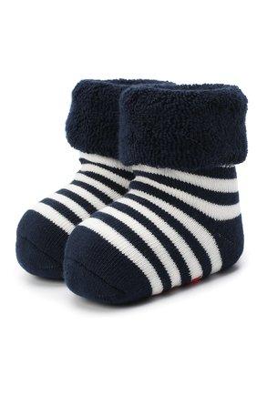 Детские хлопковые носки FALKE темно-синего цвета, арт. 10040. | Фото 1 (Материал: Хлопок, Текстиль)