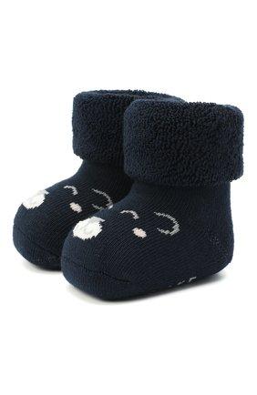 Детские хлопковые носки FALKE темно-синего цвета, арт. 12211. | Фото 1