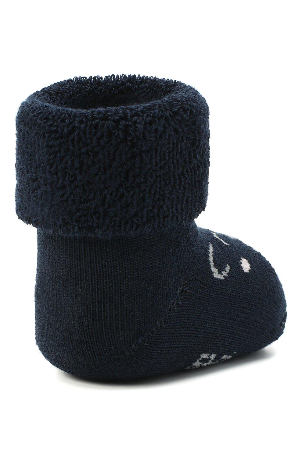 Детские хлопковые носки FALKE темно-синего цвета, арт. 12211. | Фото 3