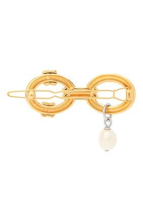 Женская заколка для волос CHLOÉ золотого цвета, арт. CHC20AFT11BNC | Фото 2