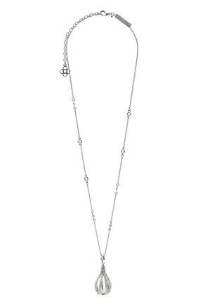 Женская кулон на цепочке OSCAR DE LA RENTA серебряного цвета, арт. P20J020SIL | Фото 1
