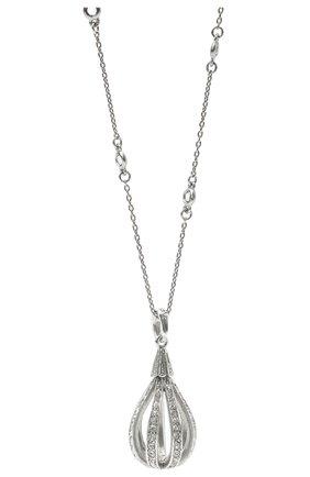 Женская кулон на цепочке OSCAR DE LA RENTA серебряного цвета, арт. P20J020SIL | Фото 2
