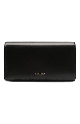 Женские кожаное портмоне на цепочке SAINT LAURENT черного цвета, арт. 635203/03P0J | Фото 1