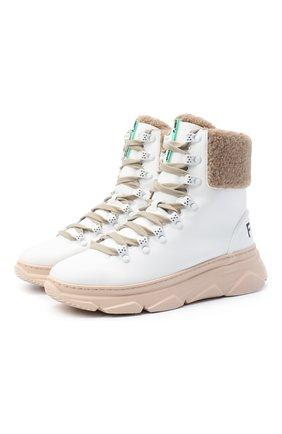 Женские ботинки F_WD белого цвета, арт. FWS35061A/12108 | Фото 1