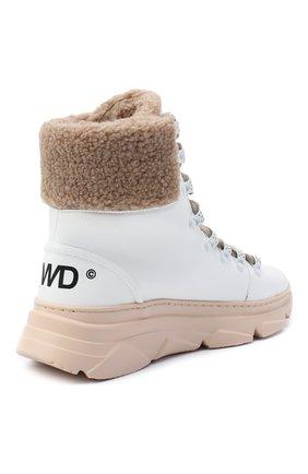 Женские ботинки F_WD белого цвета, арт. FWS35061A/12108 | Фото 4