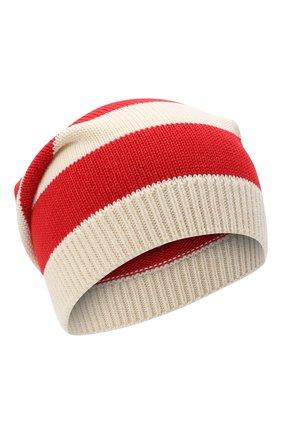 Женский хлопковая шапка GUCCI красного цвета, арт. 628095/3GF57 | Фото 1