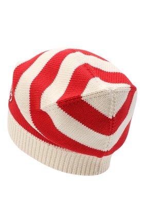 Женский хлопковая шапка GUCCI красного цвета, арт. 628095/3GF57 | Фото 2