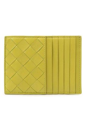 Женский кожаный футляр для кредитных карт BOTTEGA VENETA светло-зеленого цвета, арт. 635043/VCPP3 | Фото 1