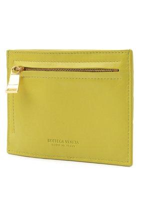 Женский кожаный футляр для кредитных карт BOTTEGA VENETA светло-зеленого цвета, арт. 635043/VCPP3 | Фото 2