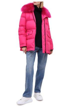 Женский пуховик YS ARMY PARIS розового цвета, арт. 21WFM04476A10G | Фото 2