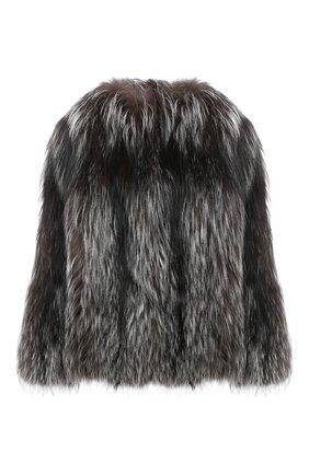 Женская шуба из меха лисицы KITON серого цвета, арт. D50580X04T64 | Фото 1