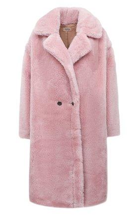 Женская шуба METEO YVES SALOMON розового цвета, арт. 21WMM00104LATI | Фото 1